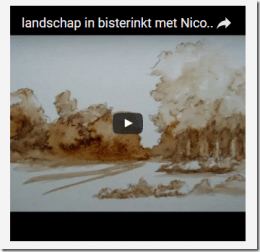 video's van tekenen en etsen