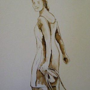 ballerina II te koop ingelijst 40x50cm