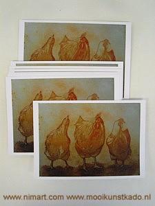 ansichtkaart met envelop van kipjes kopen