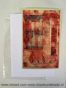 kunstkaart muziek een grote postkaart met envelop