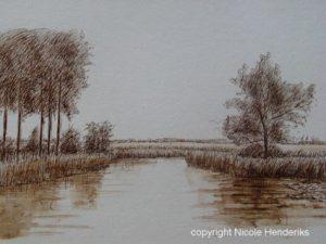 pen inkt landschappen