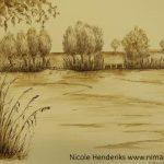 pen inkt landschap