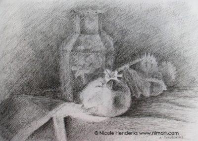 stilleven met granaatappel ntk