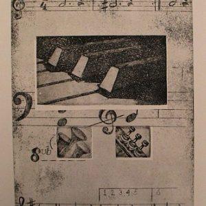"""ets """"Piano"""" oplage te koop 40x50cm"""