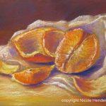 stilleven met sinaasappel