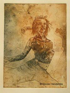 vrouw danst
