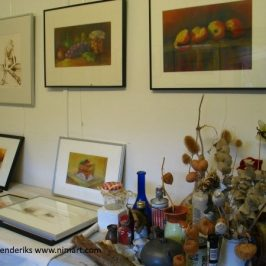 Leuk kijk mee in atelier NIMArt over pastel inkt en etsen