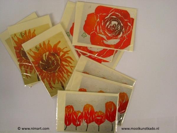 ansichtkaarten kopen van bloemen voorzien van envelop