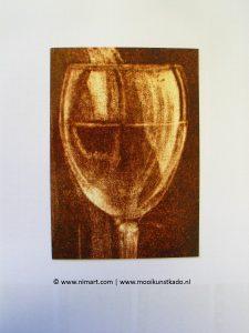 ansichtkaart en postkaart een glaasje wijn kopen voor een verjaardag