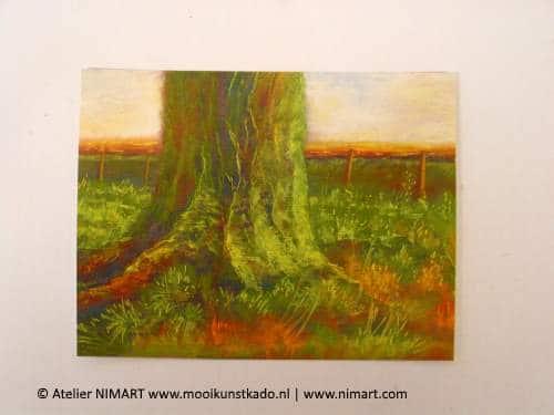 kunstkaart in de polder, is een ansichtkaart met envelop