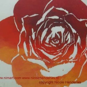 roos houtsnede