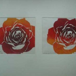 rozen houtsnede