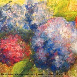 kunstkaart hortensia