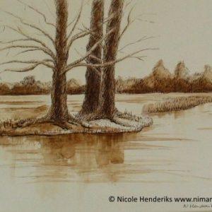 pentekening landschap