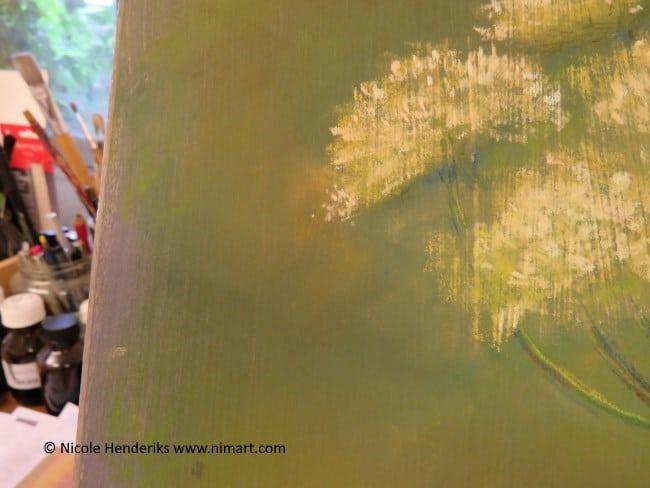 veldbloemen pastel schilderij