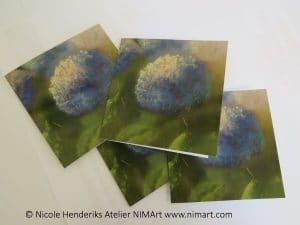 kunstkaarten hortensia een dubbele kaart