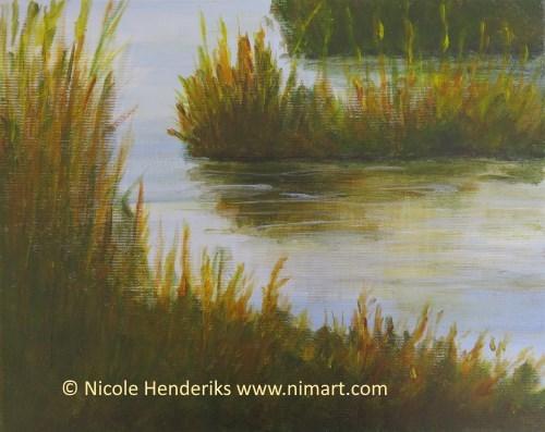 acryl schilderijen landschap en stilleven