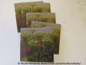 dubbele kunstkaart bloemen kopen