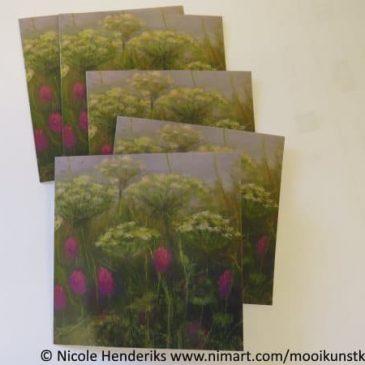 mooie kunstkaart met veldbloemen