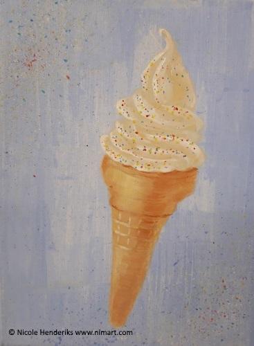 ijsje acrylschilderij
