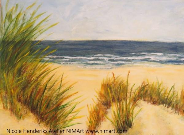 acryl landschap op het strand