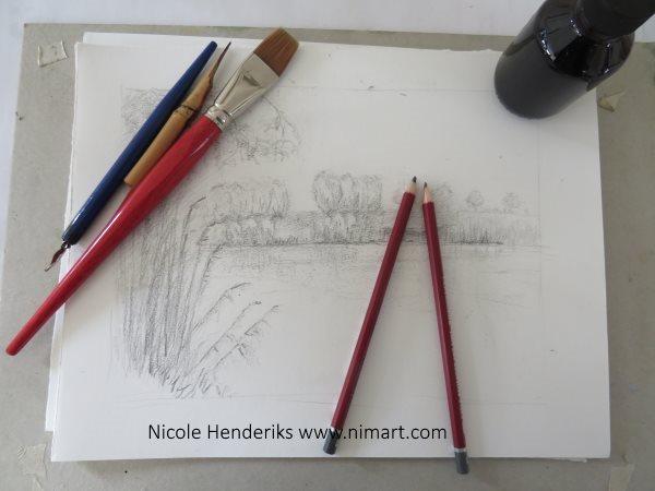 Een tekening of een schilderij naar een landschap in opdracht laten maken