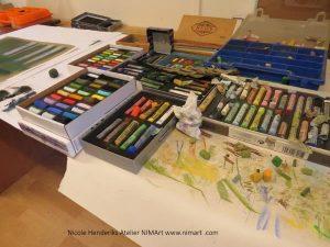 tekenen met pastelkrijt