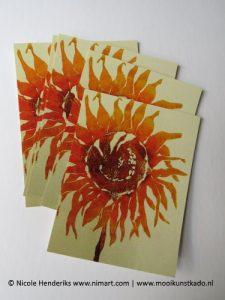 ansichtkaart en postkaart zonnebloem kopen