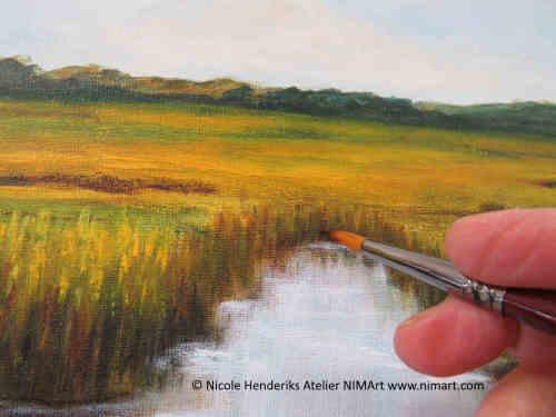landschap in acryl