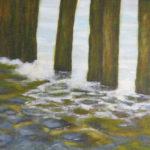 paalhoofden acryl schilderij