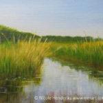 sloot in de polder acryl schilderij