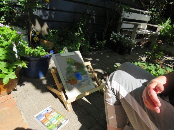 buiten tekenen met pastelkrijt