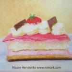 taartje met acryl geschilderd
