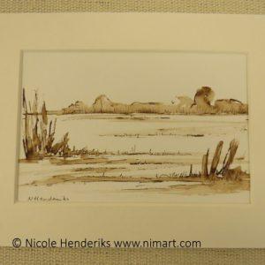 tekening landschap
