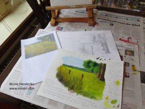 van schets naar schilderij