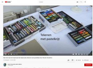 video tekenen met pastelkrijt